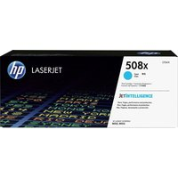 HP 508X High Yield Original LaserJet Cyan Toner Cartridge, Cyan