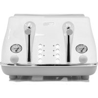 Buy DELONGHI Icona Capitals CTOC4003.W 4-Slice Toaster - White, White - Currys PC World
