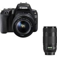 CANON EOS 200D DSLR Camera, EF-S 18-55 mm f/3.5-5.6 III Lens & EF 70-300 mm F/4-5.6 IS II USM Telephoto Zoom Lens Bundle