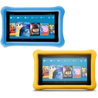 Amazon Fire 7 Kids Edition Tablets Bundle - 16 Gb, Blue & Yellow, Blue