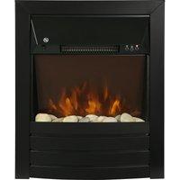 ZANUSSI ZEFIST1003B Wall Mounted Electric Fireplace   Black  Black
