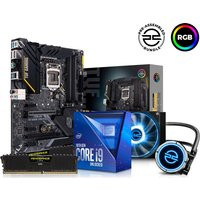 PC SPECIALIST Intelu0026regCore i9 Processor, TUF Gaming Motherboard, 16 GB RAM & FrostFlow Liquid Cooler Components Bundle