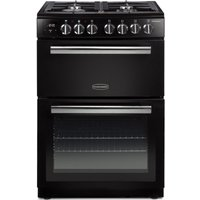 RANGEMASTER Professional Plus PROPL60DFFBL/C 60 cm Dual Fuel Cooker - Black and Chrome, Black