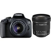 CANON EOS 2000D DSLR Camera with EF-S 18-55 mm f/3.5-5.6 III & 10-18 mm f/4.5-5.6 IS STM Lens Bundle