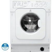INDESIT IWME127 Integrated Washing Machine - White, White