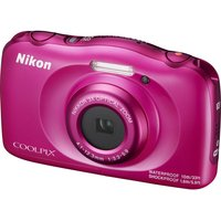 NIKON COOLPIX W100 Tough Compact Camera - Pink, Pink