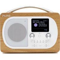 PURE Evoke H4 Portable DAB/FM Bluetooth Clock Radio - Oak