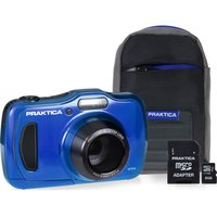 PRAKTICA Luxmedia WP240 Compact Camera & Accessories Bundle - Blue, Blue