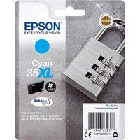 EPSON 35 Padlock XL Cyan Ink Cartridge, Cyan