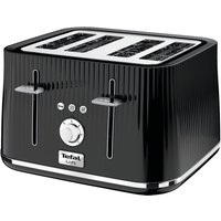 Buy TEFAL Loft TT60840 4-Slice Toaster - Piano Black, Black - Currys