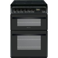 HOTPOINT DCN60K.1 60 cm Electric Ceramic Cooker - Black, Black