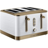 Click to view product details and reviews for R Hobbs Inspire Luxe 24386 4 Slice Toaster White Brass White.
