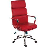 Teknik Deco 1097RD Faux-Leather Tilting Ergonomic Office Chair