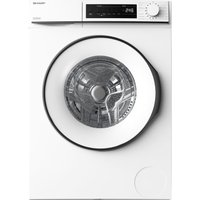 SHARP ES-NFB8141WD-EN 8 kg 1330 Spin Washing Machine - White, White.