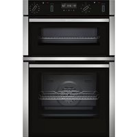 NEFF N50 U2ACM7HH0B Electric Double Smart Oven - Stainless Steel, Stainless Steel