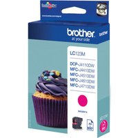 BROTHER  LC123M Magenta Ink Cartridge, Magenta