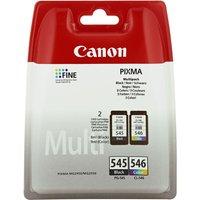 CANON PG-545/CL-546 Tri-colour & Black Ink Cartridges - Twin Pack, Black