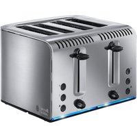 RUSSELL HOBBS  Buckingham 4 Slice Toaster   Stainless Steel  Stainless Steel