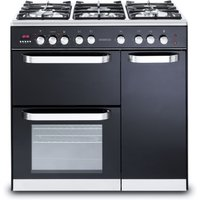 KENWOOD CK503 Dual Fuel Range Cooker - Black, Black