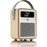 VQ Monty Portable DAB Retro Bluetooth Clock Radio - Oak