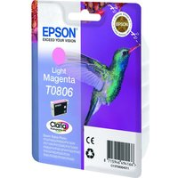 EPSON T0806 Hummingbird Light Magenta Ink Cartridge, Magenta