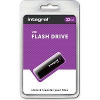INTEGRAL USB 2.0 Memory Stick - 32 GB, Black, Black