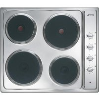 Smeg Cucina Se435s Electric Solid Plate Hob - Stainless Steel, Stainless Steel