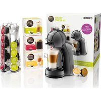 Dolce Gusto By Krups Mini Me Kp128bun Coffee Machine Starter Kit - Black & Grey, Black