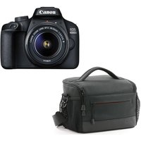 CANON EOS 4000D DSLR Camera, EF-S 18-55 mm f/3.5-5.6 III Lens & ES100 Bag Bundle