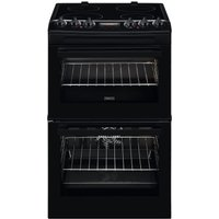 ZANUSSI ZCV46250BA 55 cm Electric Cooker - Black, Black