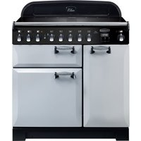 Rangemaster Elan Deluxe ELA90EIRP 90 cm Electric Induction Range Cooker - Pearl and Chrome, Red