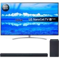 "75"" LG 75SM9900PLA  Smart 8K HDR LED TV & SK8 2.1 Wireless Soundbar Bundle, Black"