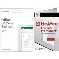 MICROSOFT Office Home & Business 2019 & McAfee LiveSafe Premium 2020 Bundle