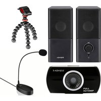 ADVENT The New Vlogger Bundle - Speakers, Gorillapod Starter Kit, Webcam & Microphone, Black