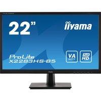 "IIYAMA ProLite X2283HS-B5 Full HD 22"" VA LED Monitor - Matte Black, Black"