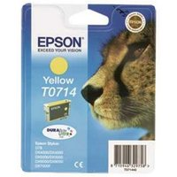 EPSON Cheetah T0714 Yellow Ink Cartridge, Yellow