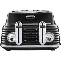 Buy DELONGHI Scultura CTZ4003BK 4-slice Toaster - Black, Black - Currys PC World