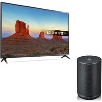 55 Lg 55uk6300plb Smart 4k Ultra Hd Hdr Led Tv & Thinq Wk7 Voice Controlled Speaker Bundle, Blue