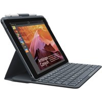 LOGITECH Slim Folio 9.7 iPad Keyboard Case - Black, Black