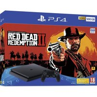 SONY PlayStation 4 with Red Dead Redemption 2 - 500 GB, Red