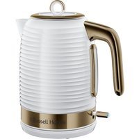 RUSSELL HOBBS Inspire Luxe Jug Kettle - White and Brass, White