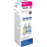EPSON T6643 Magenta Ecotank Ink Bottle - 70 ml, Magenta