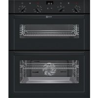 NEFF U17M42S5GB Electric Built-under Double Oven - Black, Black