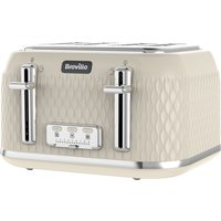 Buy BREVILLE Curve VTT788 4-Slice Toaster - Cream, Cream - Currys