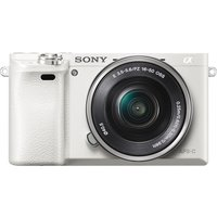 SONY a6000 Mirrorless Camera with 16-50 mm f/3.5-5.6 Lens - White