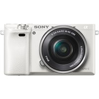 SONY a6000 Mirrorless Camera with 16-50 mm f/3.5-5.6 Lens - White, White