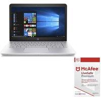 HP Pavilion 14-bk063sa 14 Laptop & LiveSafe Premium Bundle