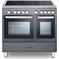 CK418SL 90 cm Electric Ceramic Range Cooker - Slate Grey & Chrome, Grey