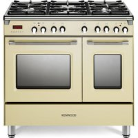 CK435CR 90 cm Dual Fuel Range Cooker - Cream & Stainless Steel, Stainless Steel