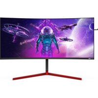 "AOC AG353UCG Wide Quad HD 35"" Curved LCD Gaming Monitor - Black & Red, Black"